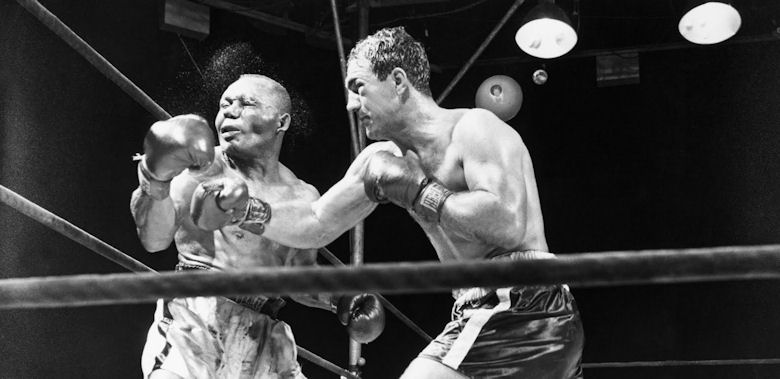 Rocky Marciano and Jersey Joe Walcott